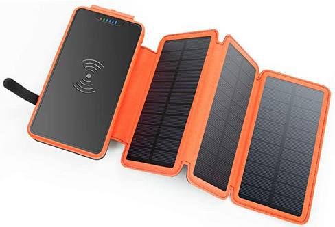 XIYIHOO Solar Powerbank mit 20.000mAh & Qi Ladefläche für 26,99€ (statt 43€)