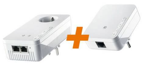 Devolo dLAN 1200+ WiFi ac + dLAN 1000 mini Starter Kit Powerline ab 94€ (statt 145€)