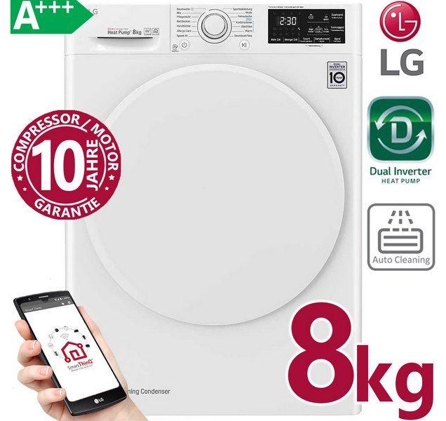 LG RT8DIHP   8kg Inverter Wärmepumpentrockner A+++ für 449,99€ (statt 532€)