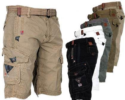 geographical norway Cargo Shorts Parap in 8 Farben & 100% Baumwolle für 32,90€ (statt 40€)