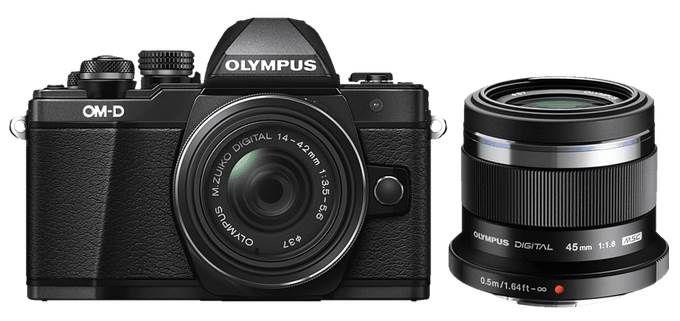 Olympus OM D E M10 Mark II   Systemkamera + 14 42 mm Pancake + 45mm Objektiv ab 345,82€ (statt 545€)