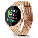EIVOTOR Smartwatch in Gold mit Trackingfunktion, Puls- & Blutdruckmesser für 28,67€ (statt 48€)