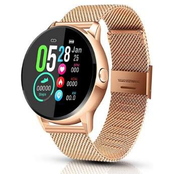 EIVOTOR Smartwatch in Gold mit Trackingfunktion, Puls  & Blutdruckmesser für 28,67€ (statt 48€)
