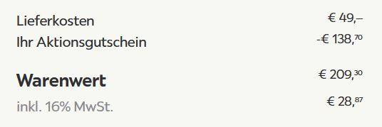 Hängesessel Bari mit Gestell für 209,30€ (statt 299€)
