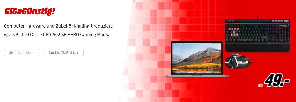 Media Markt GiGaGünstig Sale: günstige PCs u. Hardware z.B. ROCCAT Horde AIMO Gaming Tastatur für 59€ (statt 78€)