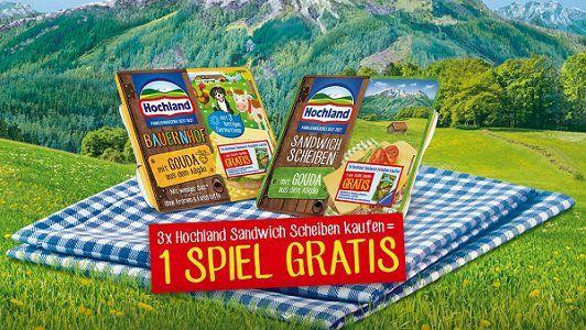 Hochland Käse: Für drei mal Hochland Sandwich Scheiben ein Ravensburger Mitbringspiel abgreifen