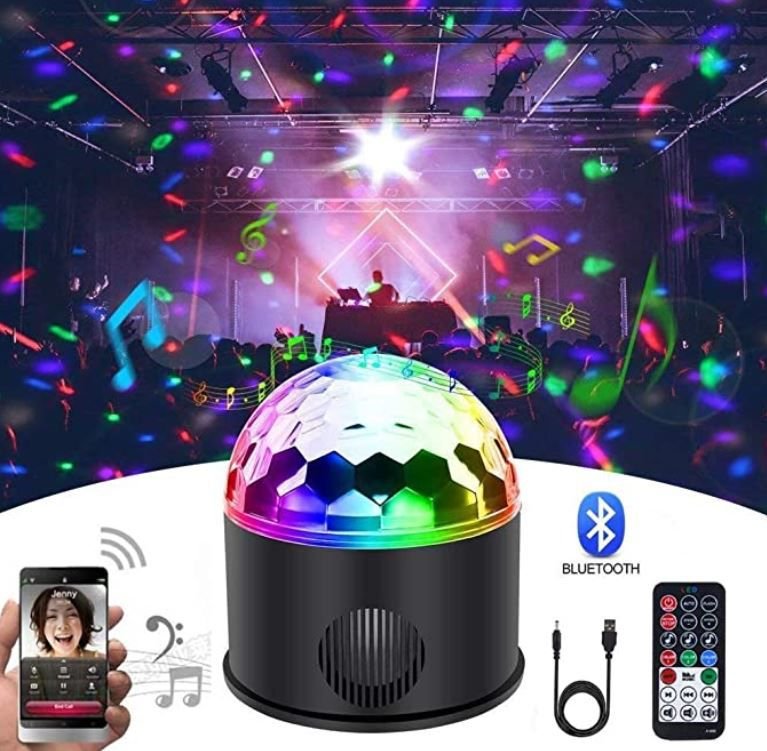 KB SEVEN Discokugel & akku Bluetooth Lautsprecher für 11,44€ (statt 23€)