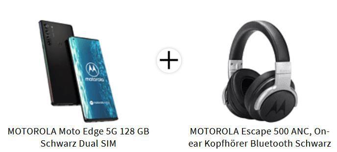 Motorola Edge 5G 6,7 Zoll Smartphone +  MOTOROLA Escape 500 ANC Headset für 584,87€ (statt 607€)