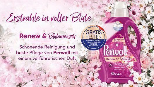 Flüssigwaschmittel von Perwoll kostenlos ausprobieren
