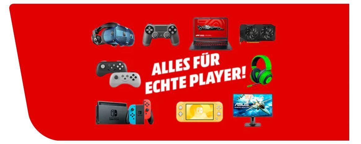 Media Markt Press Play: günstige Gaming Artikel   z.B. RAZER Hammerhead True Wireless Kopfhörer für 88€ (statt 96€)