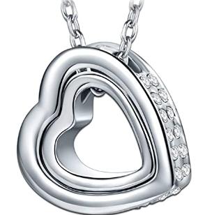 """Kami Idea Damenkette """"I love you forever"""" mit Swarovski Steinen für 8,99€ (statt 28€)"""