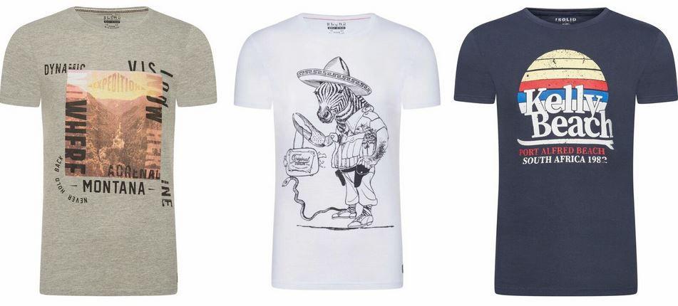 !Solid Blend Herren Motiv T Shirts für je 7,95€ (statt 13€) Restgrößen