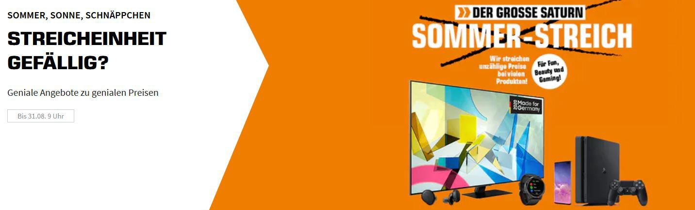 Saturn Sommer Streich Aktion   z.B. Nintendo Switch Joy Con 2er Set + 51 Worldwide Games für 82,85€ (statt 108€)