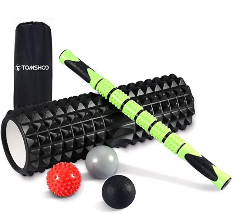 TOMSHOO Fitness Set 6 in 1 mit Massageroller, Massagebälle etc. für 21,96€ (statt 31€)