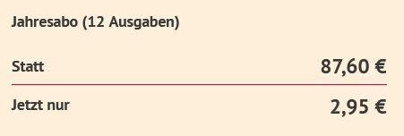 Jahresabo UNTERWASSER für direkt nur 2,95€ (statt 87,60€)