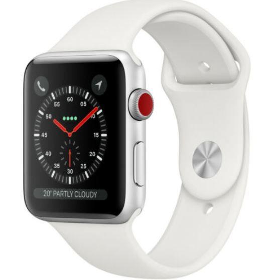 Apple Watch Series 3 White mit GPS + LTE 38mm für 251,10€ (statt 350€)