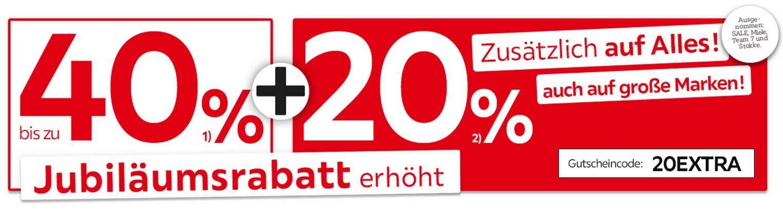XXXLutz Sale bis 40% Rabatt auf viele Möbel + 20% Extra Rabatt zusätzlich