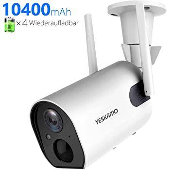 YESKAMO Z6 1080p Akku  Solarbetriebene 1080p Wifi Überwachungskamera für 59,40€ (statt 99€)