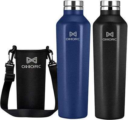 Omorc Edelstahl Trinkflasche (620ml) mit Thermofunktion für 6,39€   Prime