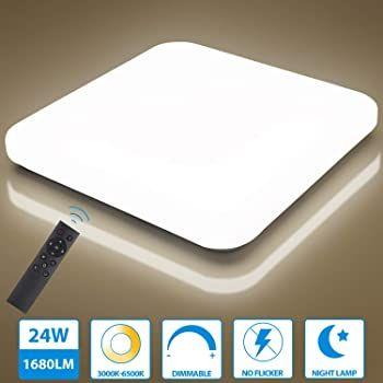 Oeegoo 24W LED Deckenleuchte mit Fernbedienung & dimmbar für 28,30€ (statt 37€)