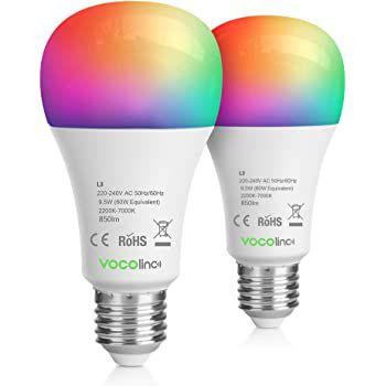2er Pack: VOCOlinc WLAN RGB 9,5W LED Glühbirne für 19,99€ (statt 40€)