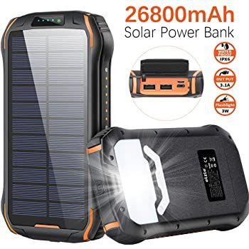 26.800mAh Solar Powerbank mit 3 Ports für 25,79€ (statt 43€)