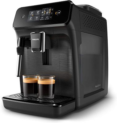 Philips Kaffeevollautomat EP1220 (1,8L, Milchaufschäumer) in Schwarz für 233,95€ (statt 299€)