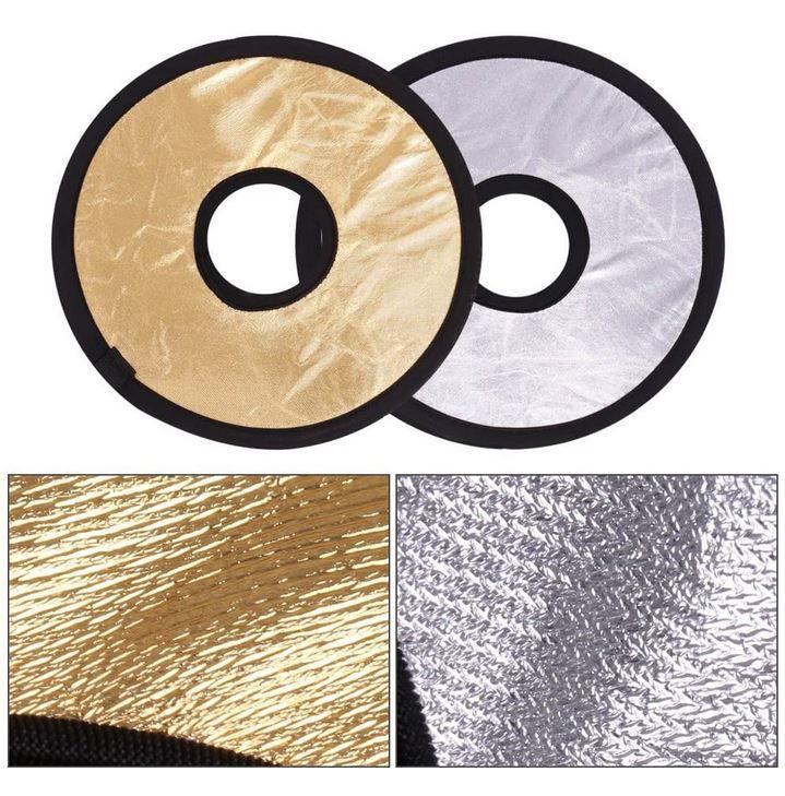 Andoer 2 Objektiv Reflektoren je 30cm (Gold u. Silber) für 2,91€ (statt 10€) Prime