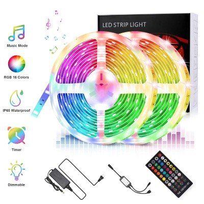 Vorbei! RGB LED Streifen in 10 Metern IP65 Wasserdicht und Dimmbar mit Fernbedienung für 17,49€ (statt 35€)