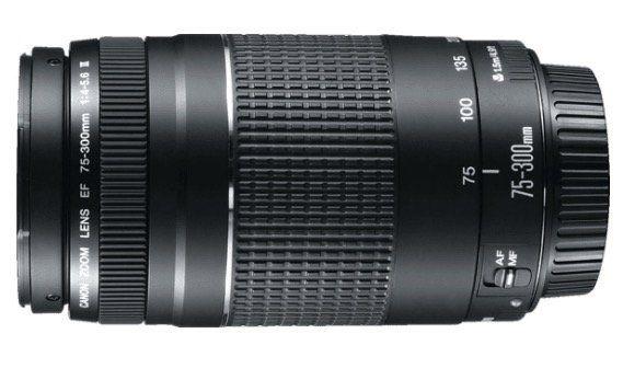 Canon EF III 75 mm   300 mm f/4 5.6 EF Objektiv für 90€ (statt 120€)