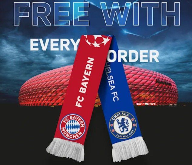 FC Bayern Shop: gratis CL Achtelfinale Fanschal ab 20€