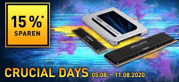 Crucial Speicher Deals bei NBB   z.B. Crucial P5 SSD 500GB für 75,71€ (statt 85€)