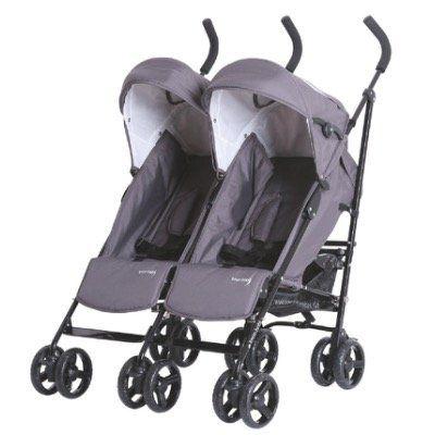 Knorr Baby Zwillingsbuggy Side by Side in Grau für 117,99€ (statt 158€)