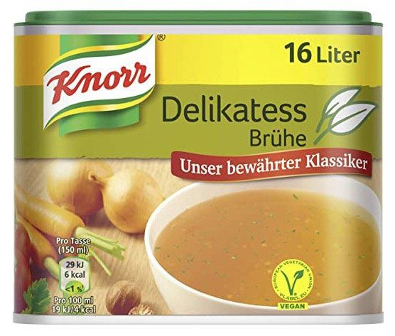6er Pack Knorr Würzbasis Delikatess Brühe vegan ab 9€ (statt 14€)