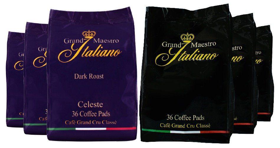 216er Pack Grand Maestro Italiano Kaffeepads für 23,97€