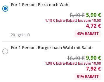 Pizza Lord Viersen (Nähe Mönchengladbach) Pizza nach Wahl für 4,72€oder Burger inkl. Salat für 7,92€