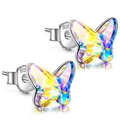 Angel Nina Schmetterlings Ohrstecker aus 925 Sterling Silber mit Swarovski Kristall für 8,99€ (statt 26€)