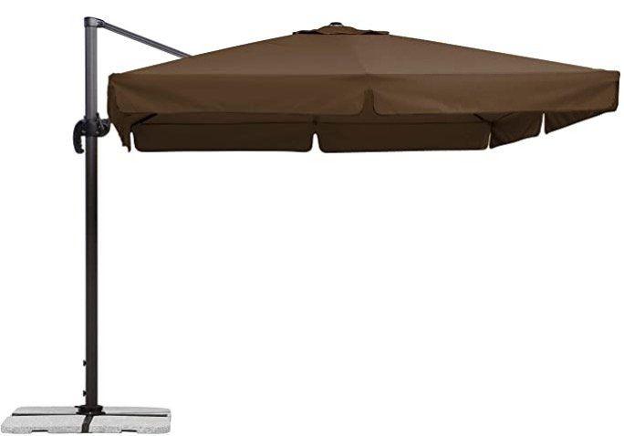Schneider Sonnenschirm Rhodos in Mocca 300x300 cm für 209€ (statt 339€)