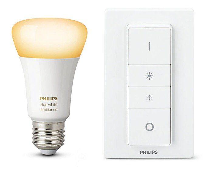 Philips Hue White Ambience Recipe Kit E27 inkl. Dimmschalter für 24,76€ (statt 35€)