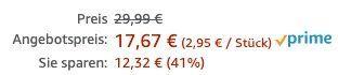 6er Pack Nivea Men Sensitive Gesichtspflege Creme ab 17,67€ (statt 30€)   Prime