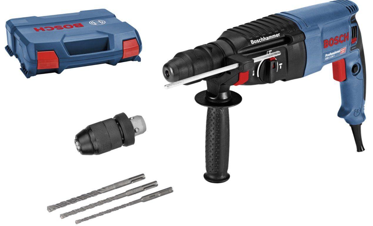 Bosch GBH 2 26 F Professional Bohrhammer Set inkl. 2 x 3 teiligem Bohrer Set für 149,99€ (statt 179€)