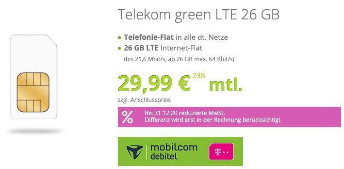 Telekom Flat mit 26GB LTE (!) für 29,99€ mtl. + gratis SoFlow SO1 E Scooter mit Straßenzulassung (Wert 249€)