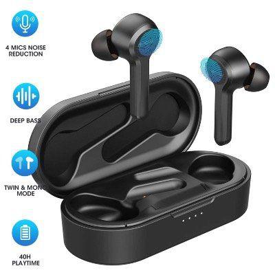 Mpow M9 Bluetooth inEars mit Touch und Noise Cancelling IPX8 mit Ladebox für 23,39€ (statt 38€)