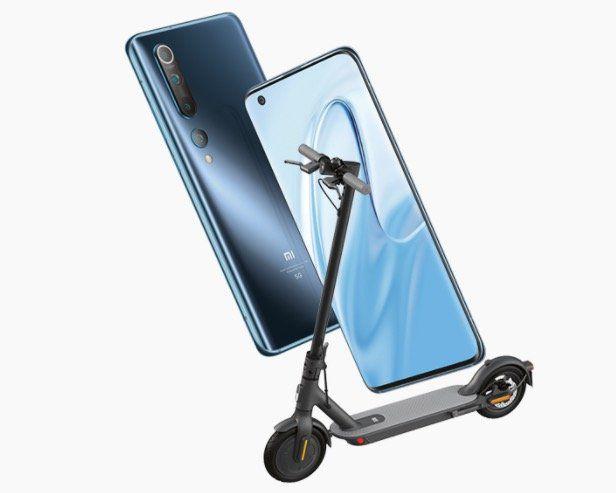 Xiaomi Mi 10 + Mi 1S E Scooter (mit Zulassung) für 1€ + Vodafone Flat mit 15GB LTE für 36,99€mtl.