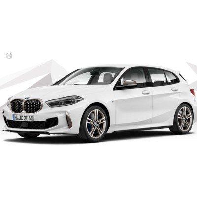 Privat- & Gewerbe: BMW M135i xDrive 305PS in Alpin Weiß für 349€ mtl. – LF 0,73