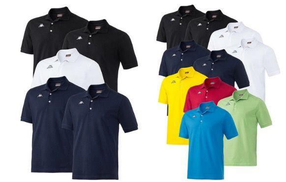 5er Pack Kappa Poloshirts im Mischpack für 59,99€ (statt 80€)   oder 10er Pack für 96,75€