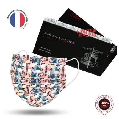 Abgelaufen! Gratis Mund Nasen Schutz im limitierten No Comment Paris Design    keine Versandkosten