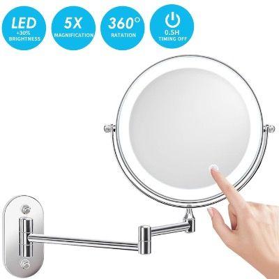 Alvorog LED Kosmetikspiegel zur Wandmontage beleuchtet mit Vergrößerung für 19,99€ (statt 40€)
