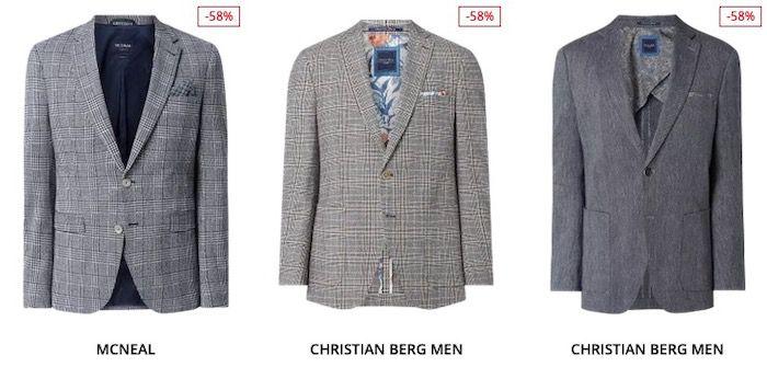 Sakko und Anzug Sale bis 66% Rabatt + 30% Extra Rabatt   z.B. s.Oliver Black Label für 125,99€