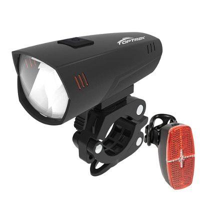 Toptrek LED Fahrradlicht Set mit StVZO (Frontlichter + Rücklicht, IPX5  für 9,84€ (statt 18€)   Prime